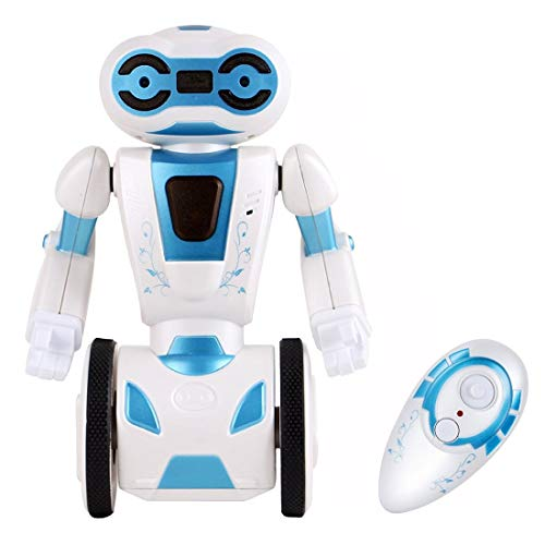 (LSQR Self Balancing Robot Toys for Kids Gift, 2.4GHz Remote Control RC Robotic Kit 4 Operating Modes, Loading, Dancing, Gesture Sensing, Boxing Super Fun Smart Robot Toy,White)