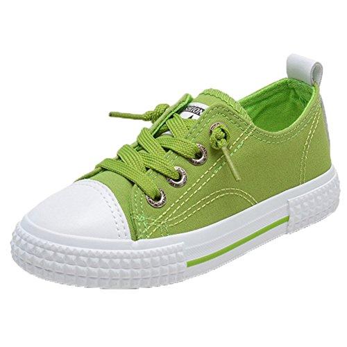 Ohmais Kinder Mädchen Kind-Mädchen-Jungen-Sportschuh Freizeitschuh Grün