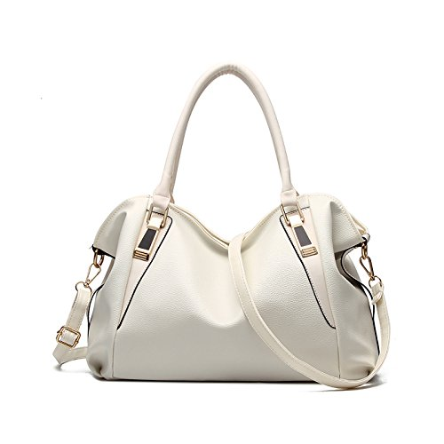 2018 White Handbag Messenger Shoulder Women's Fashion Tisdaini Soft Ladies Leather New Bag Bag Messenger 1qw8wnAEO