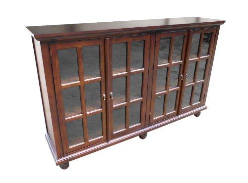 Glass Mahogany Bookcase - 1