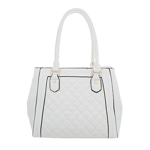 Sac À L'épaule Porter Pour design Weiß Femme Ital AOq5B7wxv