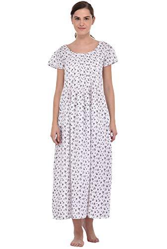 Damen olive White Lane Kleid lilac Cotton Klassisch 6qHwOOx
