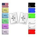 Credit Card Sleeve, 14PCS RFID Sleeves Credit Card Protectors for Identity Theft Protection (Set of 12 Credit Card Protector Sleeves + 2 Passport Holders)