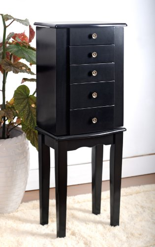 Black Jewelry Armoire Chest