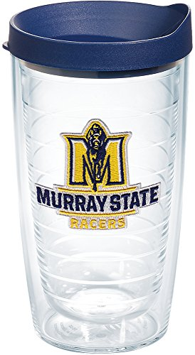 Tervis 1182830 Murray State Racers Logo Tumbler with Emblem and Navy Lid 16oz, Clear -