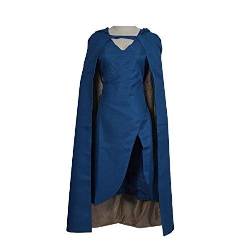 YBKJ Game of Thrones Dress Cosplay Costume Womens Top Design Cloak (Medium) (Female Cosplay)