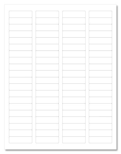 Waterproof White Matte Return Address Labels, 1.75