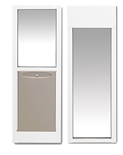 PetSafe 2-Piece Sliding Glass Pet Door, Great for Apartments or Rentals , 76 13/16' to 81', White, Large