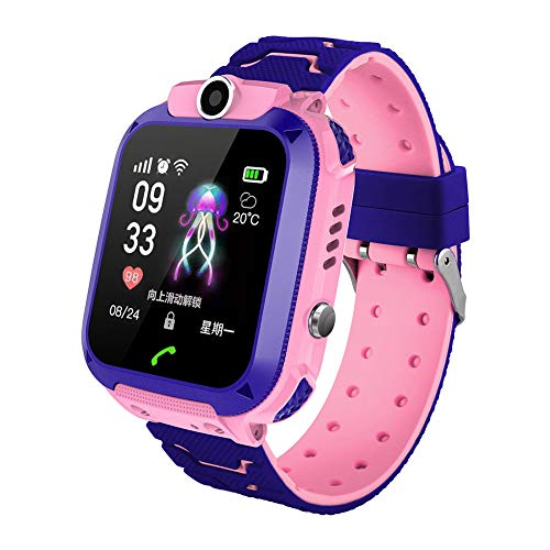 - Smart Watch,Bluetooth Smartwatch Touch Screen Wulidasheng,Multifunctional SIM Card 2G Network Camera SOS Kids Safety Smart Bracelet Watch - Red