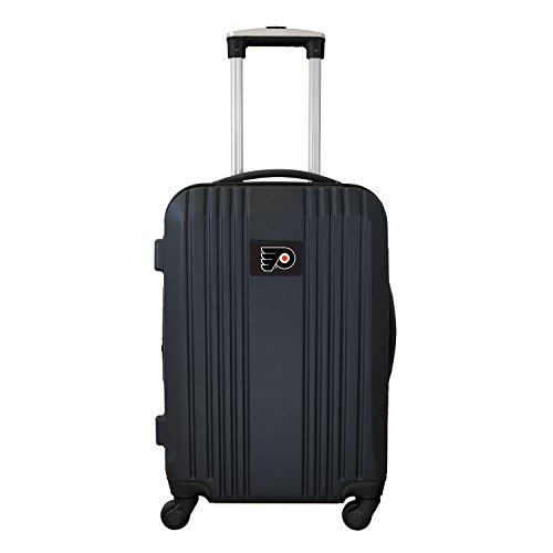 Denco NHL Philadelphia Flyers Round-Tripper Two-Tone Hardcase Luggage Spinner from Denco