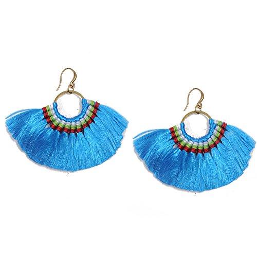 Artilady boho tassel earrings for women