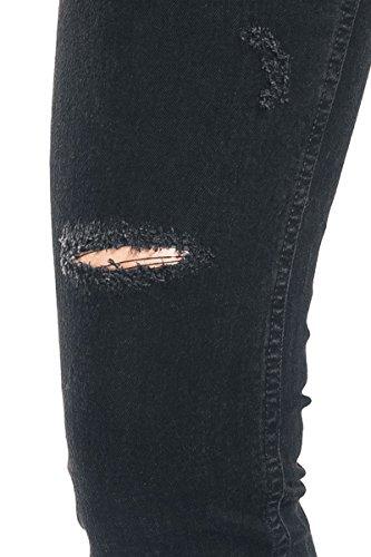 Femme Noir Black Premium Noir Jean by Gris Skarlett Gris EMP OOnBw6CFq