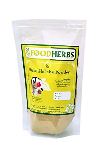 Foodherbs Herbal Shikakai Powder (Mixture Of 6 Herbs) (200 Gm/0.44 Lbs) to strengthen hair, for hairfall