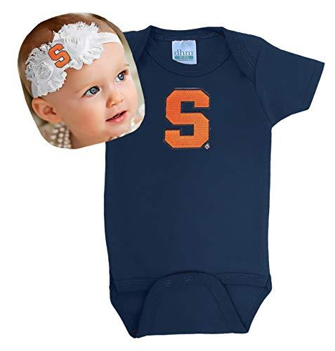 (Future Tailgater Syracuse Orange Baby Onesie and Shabby Bow Headband Gift Set (3-6 Months))