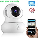 Wireless Baby Monitor IP camera Security Surveillance System 1080P with Night Vision for Home, Office, Shop, kids, Pet Monitor with iOS, Android, PC App - Cloud Service Available