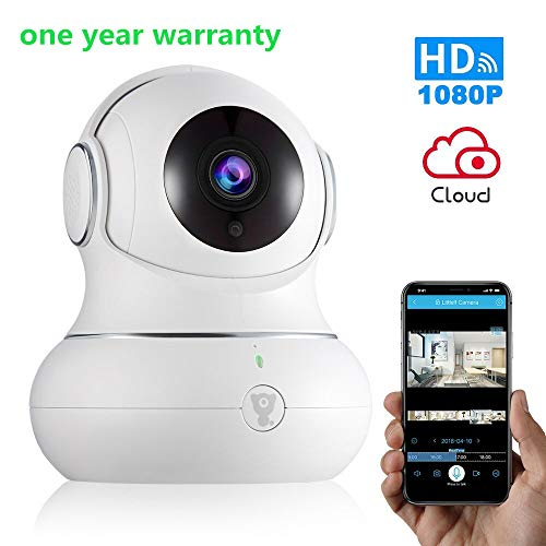Wireless Baby Monitor WiFi IP Camera Security1080P with Night Vision for Home, Office, Shop, Kids, Pet Monitor with iOS, Android, PC App – Cloud Service Available (1080P White) Review