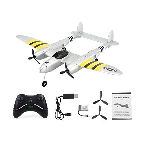 Henanxifbm FX-816 World War II Air Force P38 RC Airplane 2.4GHz 2CH RC Aircraft Fixed Wing Outdoor Flight Drone for Kid Toys by Henanxifbm