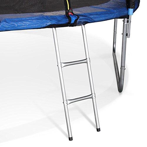 alice 39 s garden venus trampoline avec b che de protection chelle filet de s curit bleu. Black Bedroom Furniture Sets. Home Design Ideas