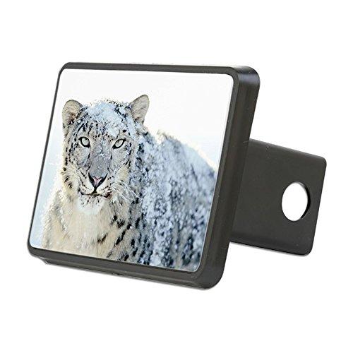 Rectangular Hitch Cover Snow Leopard HD (Tiger Leopard Apple)