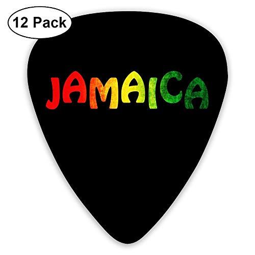MOCSTONE Guitar Picks Jamaica Reggae ABS Bass Guitar Plectrums 12 Pack