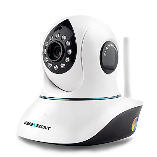 GENBOLT 1080P Wireless WiFi IP Camera Pan Tilt HD CCTV Day Night Vision Security Camera indoor for Home Surveillance, 2 Way Audio Motion Detection Pet/Cat/Dog Camera, Nanny Baby Camera Monitor