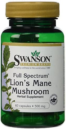 Swanson Premium Brand Full Spectrum Lion's Mane Mushroom 500mg 2 Bottles each of 60 Capsule