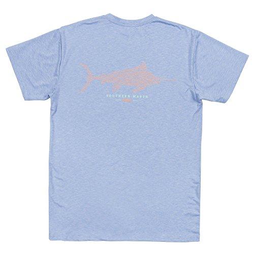(Southern Marsh FieldTec Heathered Performance Tee - Marlin)
