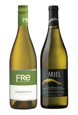 Non-Alcoholic Chardonnay White Wine Variety Two Pack - Includes Ariel and Fre Alcohol Free Chardonnay