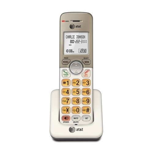 - AT&T EL50013 Accessory Cordless Handset, Gold/White   Requires AT&T EL52103, EL52203, EL52253, EL52303, EL52353, EL52403, or EL52503 to Operate