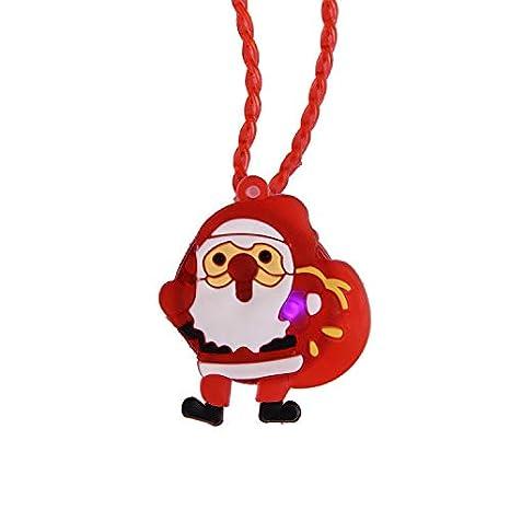 Weihnachtsspielzeug, Vovotrade 1PC beleuchtet Weihnachten LED Leuchten Halskette Kinder Erwachsene Party Favors Weihnachten Spielzeug Kinder (Rot) A04R48-22-05