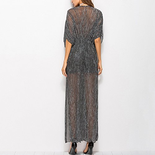 Dress Ai Neck Tunic Short Evening Moichien Women Sleeve Black Cocktail s V Deep Vintage Elegant Party r8Fr6q