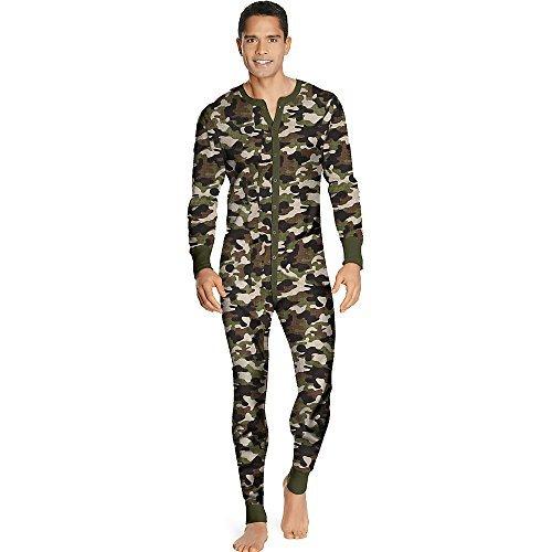 Hanes X-Temp Men's Organic Cotton Thermal Union Suit 3X-4X_Camo_4XL