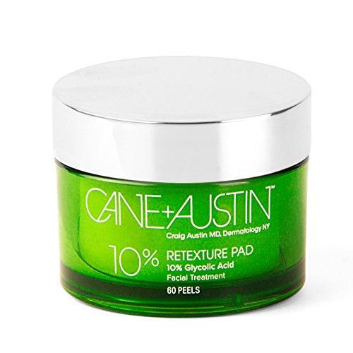CANE + AUSTIN Retexture Pad, 10% Glycolic Facial Peel Pads (Glycolic Pads)