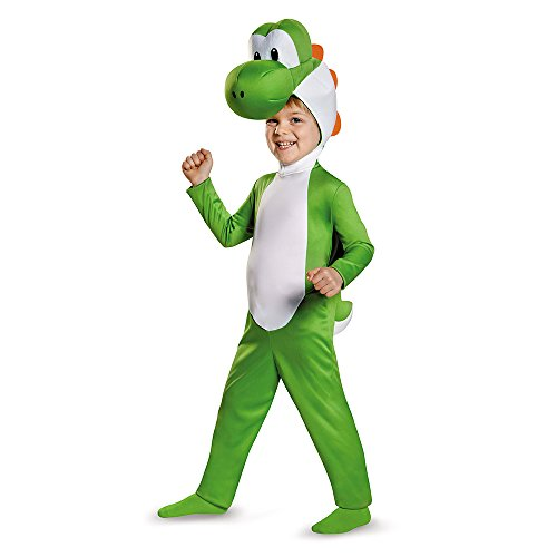 Mario Bros Costume For Toddler (Yoshi Toddler Costume, Medium (3T-4T))