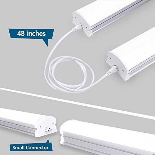 (Pack of 2) Barrina 4ft 45 Watt Extendable Utility LED Shop Light Workbench Light 6500K Super Bright White 4500lm 300W Equivalent Built-in ON/Off Switch Frosted Linear LED Light Bar by Barrina (Image #3)