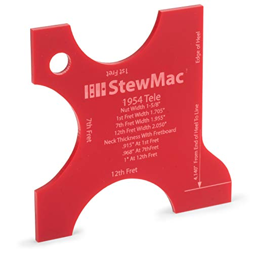 StewMac Neck Shaping Templates for Electric Guitar, for 1954 Tele Neck Profile