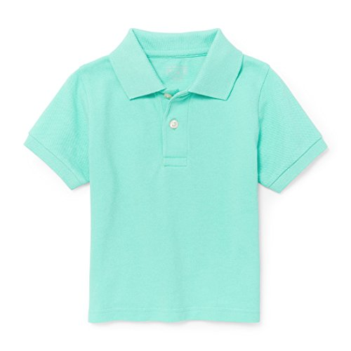 4t Polo Shirt - The Children's Place Baby Little Boys' Short Sleeve Solid Polo 1, Mellow Aqua 87459, 4T