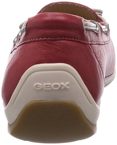 Geox D Yuki Een Dames Mocassin Rood (redc7000)