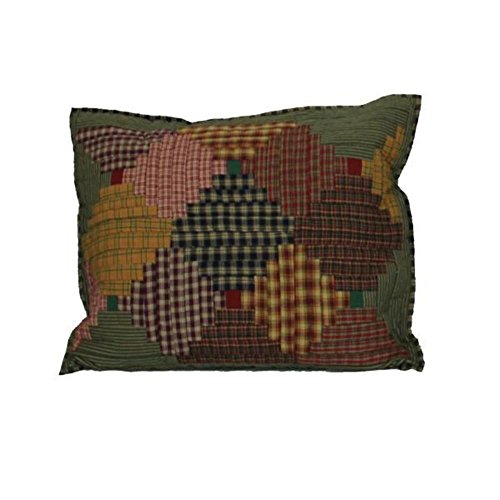 Patch Magic 27-Inch by 21-Inch Harvest Log Cabin Pillow Sham (Patch Magic Harvest Log Cabin)