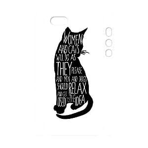 Custom Black Cat iPhone 5 3D Cover Case, Black Cat Customized 3D Phone Case for iPhone 5,iPhone 5s at Lzzcase BY icecream design