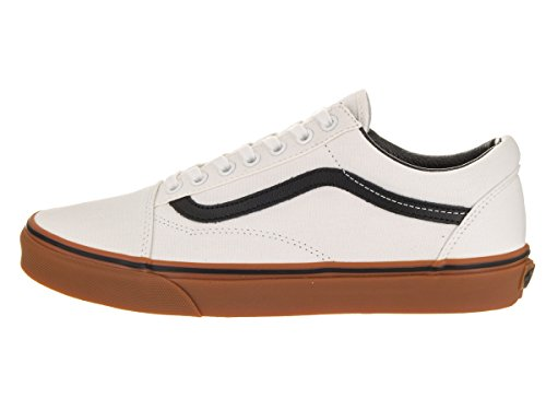 Mens Classic Blanc De Trainers Blanc White Black Old Gum Black Vans Skool pXxn7S87