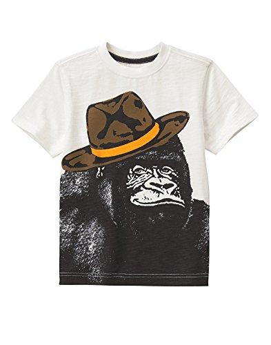 Gymboree Big Boys Fun T Shirt  Gorilla White  6
