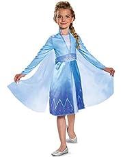 Disguise Disney Elsa Frozen 2 Disfraz para niña, Azul, Pequeño (4-6)