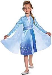 Disguise Disney Elsa Frozen 2 Classic Girls' Halloween Costume Blue, Small (