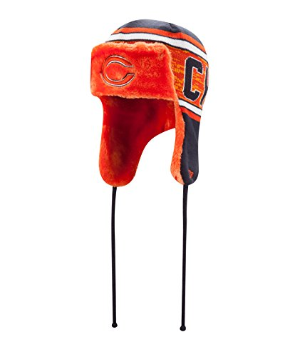 New Era NFL Chicago Bears Word Trap Knit Trapper, One Size, Blue