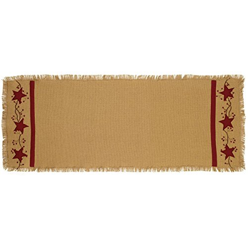 Primitive Cotton Burlap Country Runner product image