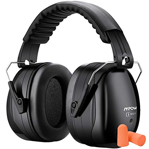 Mpow Noise Reduction Safety Ear Muff with Ear Plugs, Double