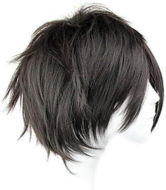 peluca cosplay inspirado en el arte espada línea Kirito ver negro ...