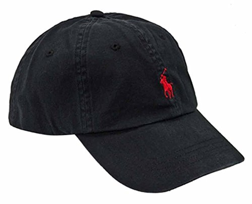 RALPH LAUREN Men s Polo Hat Ball Cap Black with Red Pony at Amazon Men s  Clothing store  Baseball Caps 56b8ee847a1