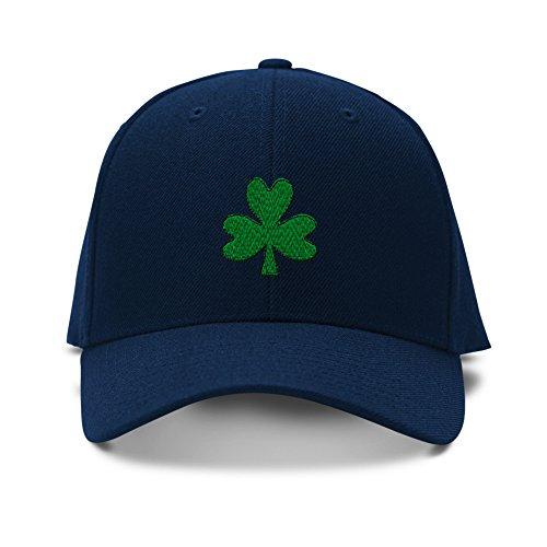 (Speedy Pros Shamrock Irish Embroidery Adjustable Structured Baseball Hat Navy)